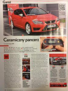 Artykuł o Gtechniq w Top Gear