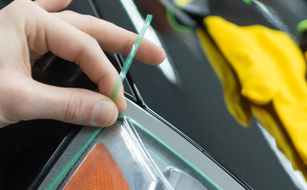 cięcie folii do oklejania aut metodą knifeless