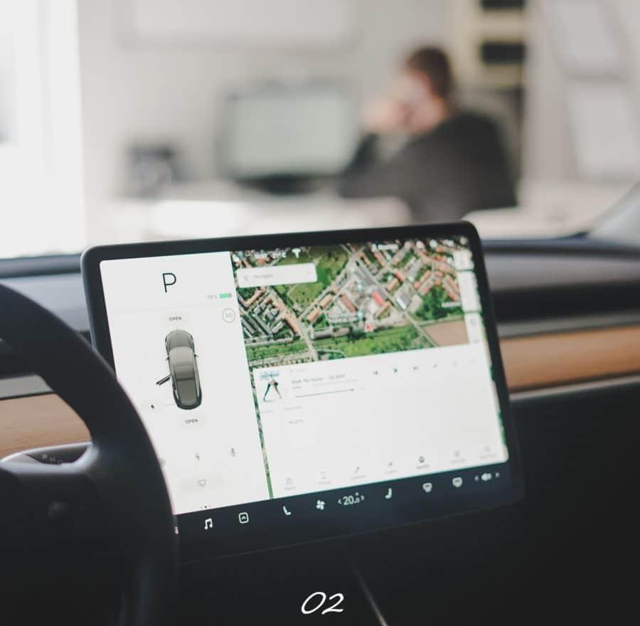 Tesla Model 3 - detailing wnętrza Legnica