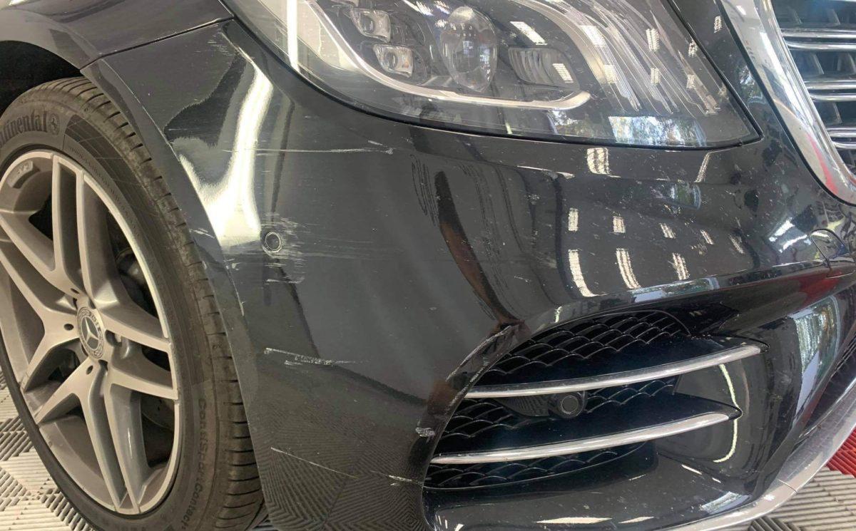 ocierka na zderzaku, szkoda parkingowa