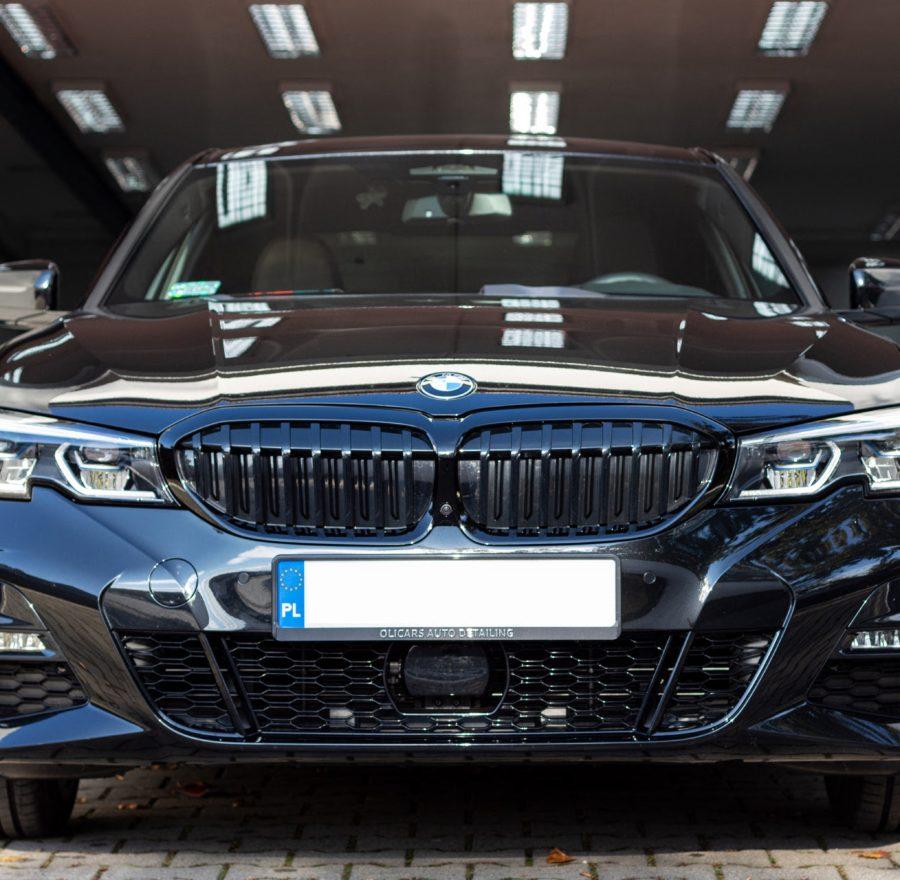 czarne BMW G20 zabezpieczone pakietem powłok ceramicznych